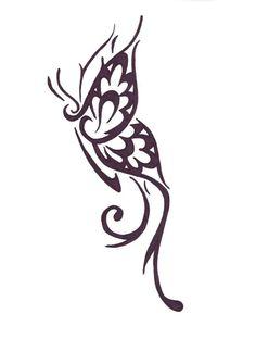 Half tribal butterfly