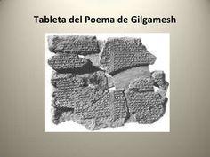 TABLETA DEL POEMA DE GILGAMESH - es una narración sobre las aventuras de Gilgamesh y su amigo Enkidu en tablillas de arcilla y escritura cuneiforme, considerada como la narración escrita mas antigua de la historia; una de las tablillas anticipa el episodio de la Biblia sobre el diluvio. Son doce tablillas que dan un orden astrológico a la obra con las aventuras de Gilgamesh para matar al gigante Khumbaba y el descenso a los infiernos y una relación entre dioses y semidioses Crochet Hats, Tablet Computer, Clay, Bible, Poems, Antigua, Knitting Hats