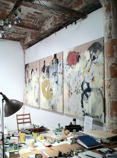 Coyote atelier artist studio inspiration: Anna Schuleit's Studio in Dumbo, Brooklyn.
