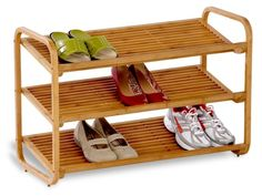 Declutter your entry with a bamboo shoe shelf that's naturally water-resistant and pretty. | 25 Of The Best Organization Products You Can Buy On Amazon