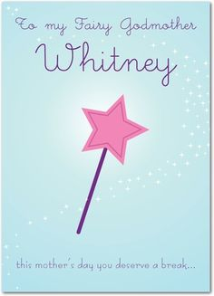 Fairy Wand - Mother's Day Greeting Cards - Magnolia Press - Blue : Front