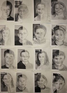 Meet Me in the Middle - 5th Grade Self-Portraits | Art is Awesome!