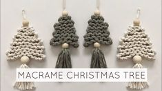 Christmas Ornament Crafts, Diy Christmas Ornaments, Handmade Christmas, Holiday Crafts, Christmas Christmas, Christmas Decorations, Macrame Wall Hanging Diy, Ornament Tutorial, Macrame Design