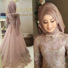 ✔ Fashion Dresses Wedding Indian #usa #india #instgram Muslim Wedding Gown, Muslimah Wedding Dress, Hijab Wedding Dresses, Indian Gowns Dresses, Muslim Dress, Bridal Dresses, Bridesmaid Dresses, Dress Wedding, Hijab Fashion