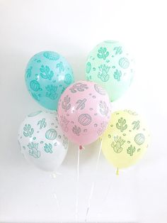 Cactus Balloons Fiesta Balloons Cactus Balloon Fiesta Party Final Fiesta Taco Bout a Party Fiesta Balloons Fiesta Bachelorette Taco Twosday