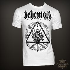 """The Unholy Trinity"" white Behemoth t-shirt  - Behemoth Webstore - The Official Behemoth Store"