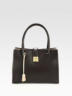 Salvatore Ferragamo - Marlene Colorblock Top Handle Bag - Saks.com $1550