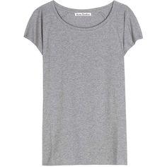 Acne Studios Narda Cotton T-Shirt found on Polyvore featuring tops, t-shirts, shirts, tees, grey, casual clothing, cotton tee, grey tee, t shirts and gray shirt
