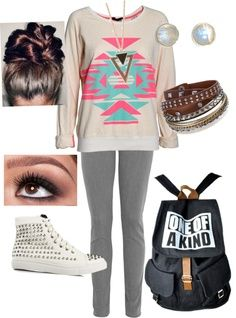 cute outfits for middle school polyvore - Google Search