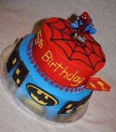 Spiderman Batman   Cake