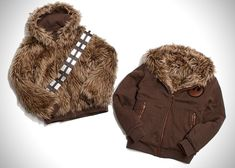 I NEED TO OWN THIS! Reversible Chewbacca/Han Solo Jacket.