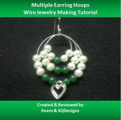 Multiple Hoop Earrings Jewelry Making Tutorial - DIY Jewelry Making Crystal Jewelry, Beaded Jewelry, Handmade Jewelry, Diy Jewelry Tutorials, Jewelry Crafts, Jewelry Kits, Jewelry Ideas, Jewelry Tools, Diy Schmuck