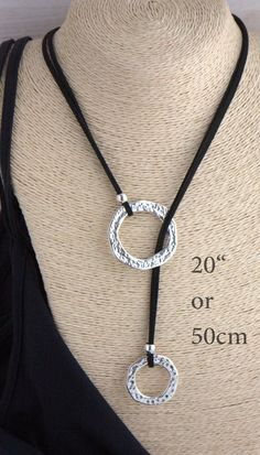 f85c92c46188 Silver Rings Choker Lariat Loop necklace One style Eyeglass