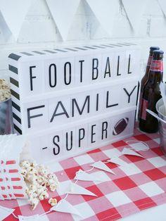 Football + Family + Super! Heidi Swapp Lightbox | @jamiepate for @heidiswapp