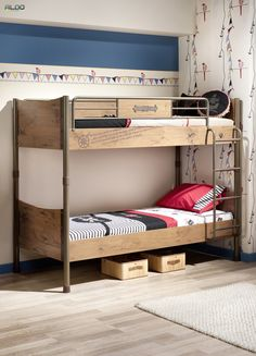 Found it at AllModern - Pirate Standard Bunk Bed Sofa, Kid Beds, Kidsroom, Dream Bedroom, All Modern, Wood Furniture, Bungalow, Your Style, Contemporary