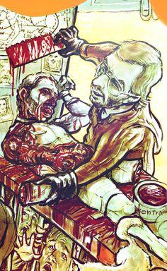 Art name - The Lucifer Supper Jeffrey Dahmer
