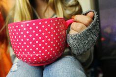 cute polka-dotted mug