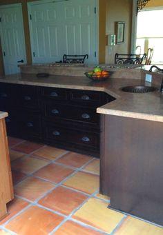 Saltillo tile bbq tile floors pinterest tile for 16x16 kitchen designs