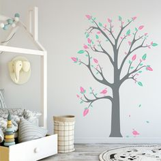 Kids tree removable wall sticker (Choose Color Combination) - Art-8.eu Nursery Wall Stickers, Removable Wall Stickers, Color Combinations, Nursery Ideas, Kids, Home Decor, Self, Color Combos, Young Children