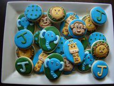 Baby jungle cookies by Kiwi's Kookies