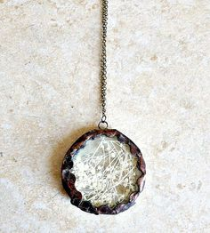 Scalloped Baby's Breath Pendant Necklace
