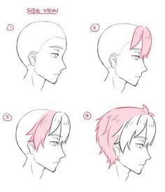Trendy Hair Drawing Tutorial Boy Anime Hairstyles – Drawing Tips Guy Drawing, Drawing Base, Manga Drawing, Drawing People, Drawing Tips, Drawing Sketches, Boy Hair Drawing, Anime Hair Drawing, Drawing Ideas