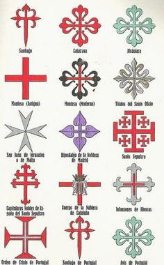 Crosses symbology chart.