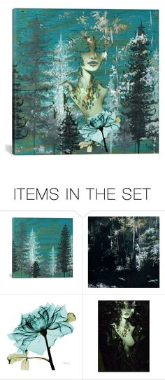 """Our Lady of the Forest"" by aqualyra ❤ liked on Polyvore featuring art, Collage, artset and photolayering"