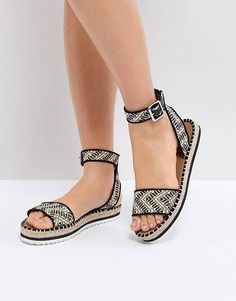 9f1fb0eb576a ASOS JUNCTION Sandal Espadrilles Vacation Style