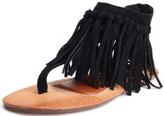 900936130c821 online shopping for Odema Womens Flat Sandals Thong Sandals Faux Suede  Tassel Zip T-Strap Sandals from top store. See new offer for Odema Womens  Flat ...