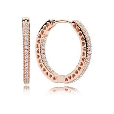Hearts of PANDORA Hoop Earrings - Pandora UK | PANDORA eSTORE