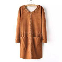 Cheapest Dresses 2015 LadiesFashionComfortableRivetDressBrownhttp://www.clothing-dropship.com/2015-ladies-fashion-comfortable-rivet-dress-brown-g2363880.html