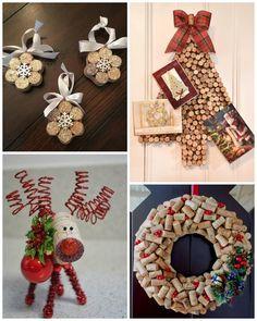 Holiday crafts for kids easy: wine cork christmas craft ideas. Cork Christmas Trees, Christmas Wine, Christmas Decorations, Christmas Ornaments, Snowflake Ornaments, Merry Christmas, Wine Craft, Wine Cork Crafts, Wine Bottle Crafts