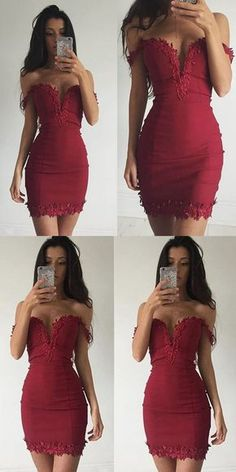 off the shoulder short homecoming dress, 2017 homecoming dress, short red homecoming dress party dress cocktail dress