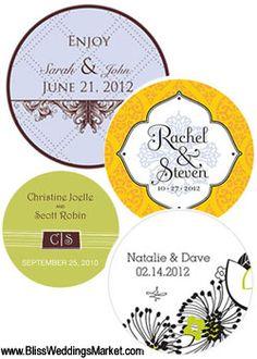 Angel Baby Boy Caucasian - Round Personalized Baptism / Christening Sticker  Labels