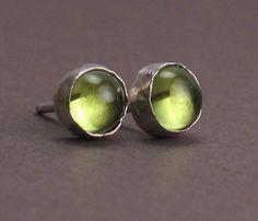 Peridot+Studs++Stud+Earrings+for+Men+and+Women++Erba++by+trillium,+$42.00