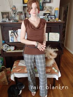 Rain Blanken in Project DIY Film Noir set at her home with insane dogs. #fashion #diyfashion #mjprojectdiy