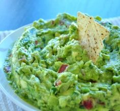 Five-Star Guacamole: 5 large Hass avocadoes (black in color,slightly soft to the press) 2 large limes, juice of 1 medium white onion (diced) 3/4 cup loosely packed fresh cilantro (chopped finely) 1 large tomato (Diced-make sure it isn't overly ripe) salt finely chopped fresh jalapeno (optional)
