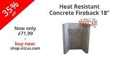"""Heat Resistant Concrete Fireback 18"""" now 35% off! buy now: http://shop.vitcas.com/heat-resistant-concrete-fireback-18-531-p.asp"""