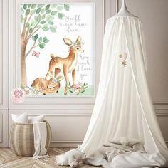 You Are My Sunshine Boho Deer Wall Art Print Woodland Floral Nursery Baby Girl Room Printable Watercolor Decor Deer Nursery, Floral Nursery, Baby Nursery Decor, Animal Nursery, Woodland Nursery, Nursery Ideas, Fairy Nursery, Woodland Theme, Nursery Design
