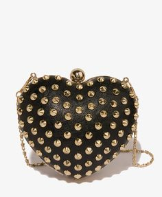 $28 Spiked Heart Minaudiere | FOREVER21 - 1022441701
