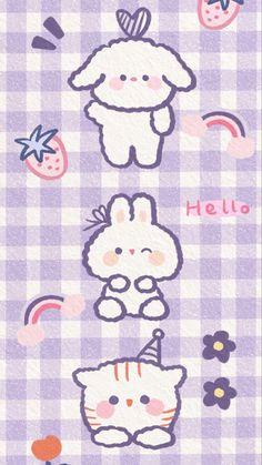 Cute Pastel Wallpaper, Soft Wallpaper, Cute Patterns Wallpaper, Iphone Background Wallpaper, Cute Anime Wallpaper, Purple Wallpaper, Cute Disney Wallpaper, Cute Cartoon Wallpapers, Kawaii Drawings