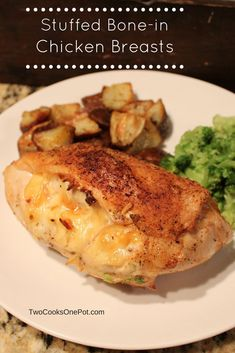For a long time this stuffed bone-in chicken breast was one of my go-to recipes whenever I cooked for friends. It's so easy to make that I've cooked it over a campfire on several occasi… Baked Bone In Chicken, Baked Stuffed Chicken, Baked Chicken Breast, How To Cook Chicken, Chicken Breasts, Bone In Split Chicken Breast Recipe, Garlic Chicken, Keto Chicken, Chicken Wings