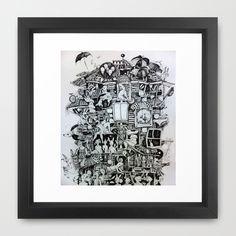 Waiting home Framed Art Print