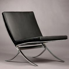 The classic Steel-Line furniture, in production again since 2011.  Lounge chair -STEEL-LINE – with or with out armrests. Designed in 1968, Produced by Terrexart, Copenhagen, Denmark.  CHAIR – Frame of chromium plated spring steel with aniline leather down filled cushions. The chairs can be assembled as sofa groups with a locking device. SALOON CHAIR – frame of chromium plated spring steel and covered with 3mm thick leather on front and back. Spring Steel, Futuristic Design, Copenhagen Denmark, Barcelona Chair, Thick Leather, Furniture Design, Chairs, Lounge