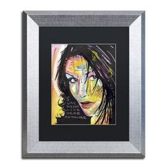 """Trademark Art """"Love Doesn't Live Here"""" by Dean Russo Matted Framed Painting Print Size:"""