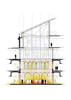 Gallery - Harvard Art Museums Renovation and Expansion / Renzo Piano Payette - 30 Coupes Architecture, Architecture Design, Architecture Presentation Board, Architecture Board, Architecture Drawings, Contemporary Architecture, Harvard Architecture, Chinese Architecture, Contemporary Art