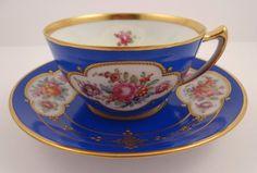 Antique Lamm Dresden Tea Cup & Saucer