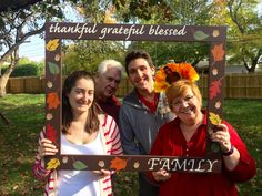 Thanksgiving Photobooth Frame Prop, Photobooth, Fall Photo booth frame prop