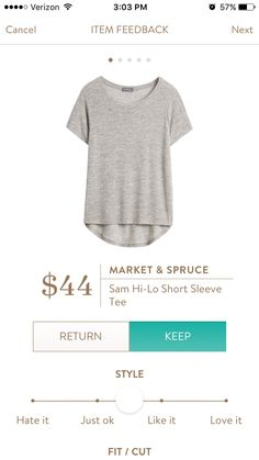 Market & Spruce Sam Hi-Lo Short Sleeve Tee- I have a gray tee already , but it's getting worn and this would be a great staple replacement. I have the green version pinned too :-)